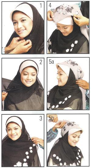 memakai jilbab dengan berbagai macam cara sebelumnya sudah saya